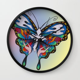 Christianity Themed Butterfly Art Wall Clock