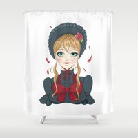 lolita Shower Curtains featuring Empty Lolita by Berry Luna