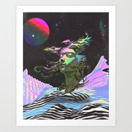 Statue in the Sky Art Print