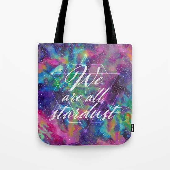 We Are All Stardust Watercolor Sacred Geometry Tote Bag