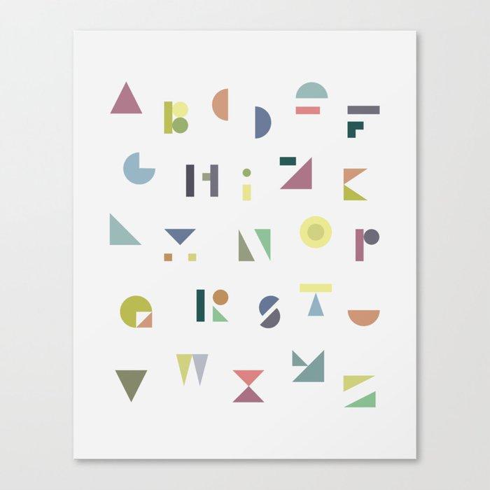 ABC colorful Canvas Print