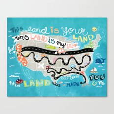 This Land is Your Land Canvas Print
