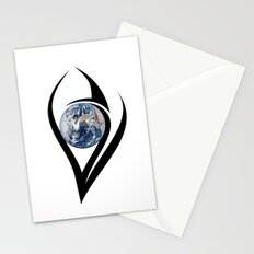 The planet on which we live can see everything Stationery Cards