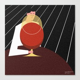 Lonely Friday at the Bar Canvas Print