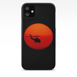 Vietnam Helicopter Sunset iPhone Case