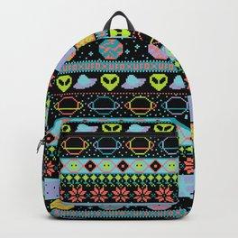 Far-Out Galaxy Fair Isle Sweater Backpack