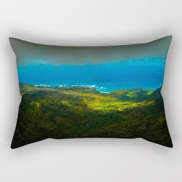 Birdseye view of the coast Rectangular Pillow
