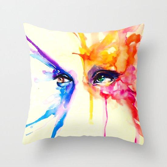 stare into the sun Throw Pillow