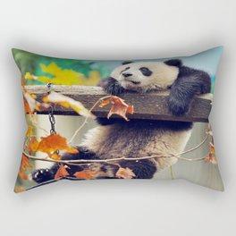 Giant panda baby over the tree Rectangular Pillow