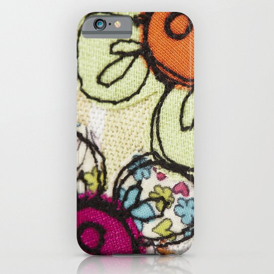 Embroidered Flowers Green iPhone & iPod Case