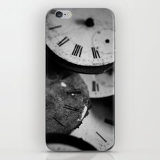 Time - Black and White iPhone & iPod Skin