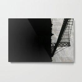 Paper City, Newspaper Bridge Collage Metal Print