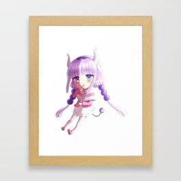 Maid Dragon Kanna fanart print Framed Art Print