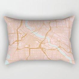 Minneapolis map, Minnesota Rectangular Pillow