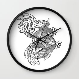 Rooster BW Wall Clock