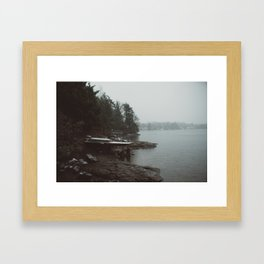 Pleasant Lake Framed Art Print