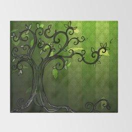 LEAVE - Summer Green Throw Blanket