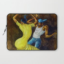 Classical African-American Masterpiece 'The Dancing Couple' by Ernie Barnes Laptop Sleeve