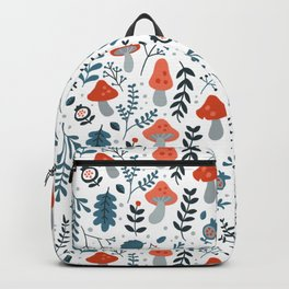 Winter mushrooms Backpack
