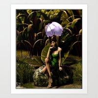 Faeries Nook Art Print