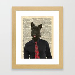 Sir Scottie Framed Art Print