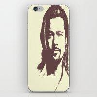 brad pitt iPhone & iPod Skins featuring Brad Pitt :) by Dora Birgis