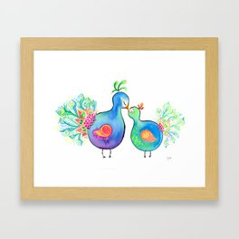 Peacock Fam Framed Art Print