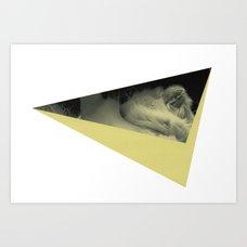 Uppercase A Art Print Ambrosia