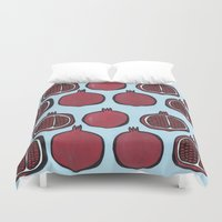 pomegranate Duvet Covers featuring Pomegranate by Nastya Shch