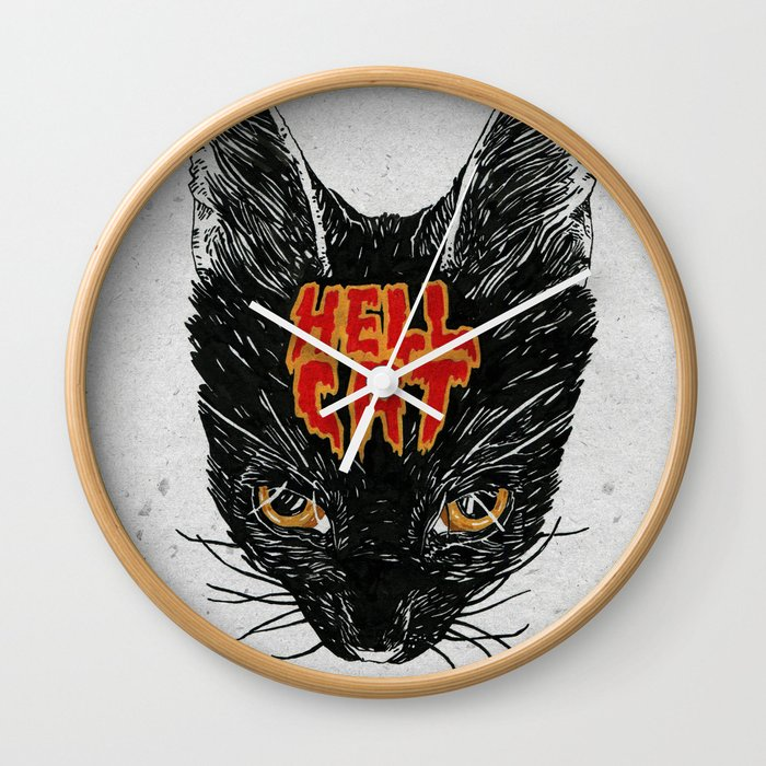 Hell Cat Wall Clock