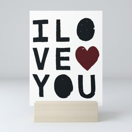 I LO VE YOU Mini Art Print