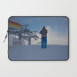 ski orange yellow Laptop Sleeve