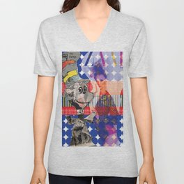Fashionable Cat in the Hat Unisex V-Neck