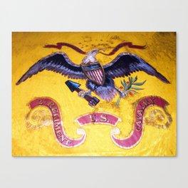 Civil War Eagle on a US Cavalry Flag Canvas Print