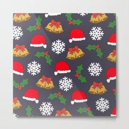 Jingle Bells Christmas Collage Metal Print