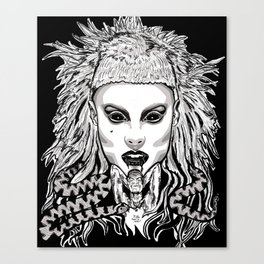 Die Antwood Inspired Illustration Canvas Print