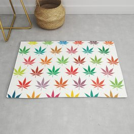 Marihuana Colorful Pattern Rug