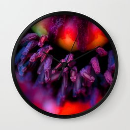 Oriental Poppy Wall Clock