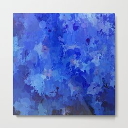 Splashes of Color, blue Metal Print
