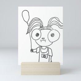 Little Balloon Girl Mini Art Print