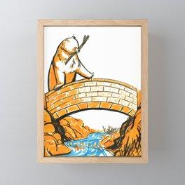 A Bridge and Stream Framed Mini Art Print