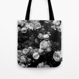 Roses are black and white Tote Bag