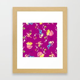 Cute Fighters Framed Art Print