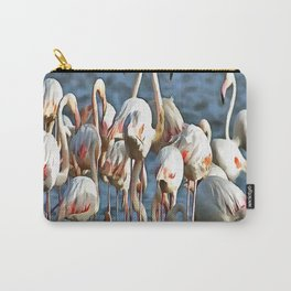 Elegance Of Pink Flamingos Carry-All Pouch