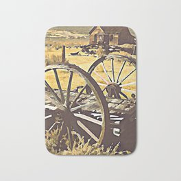 Wagon Wheels of the Old West Bath Mat