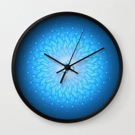 Cosmic mandala. Shanti Om Wall Clock