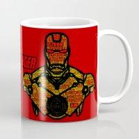avenger Mugs featuring Iron Avenger by Rachcox