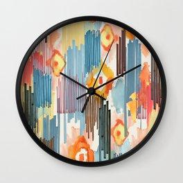 VIVID IKAT Wall Clock