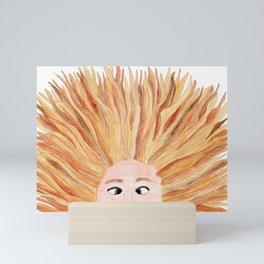 Autumn in Her Hair Mini Art Print