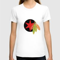 blackhawks T-shirts featuring City of the Four Feathers - Alternate by fohkat